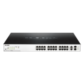 [DGS-1100-26MP] ราคา ขาย จำหน่าย D-Link Switch 24-port UTP 802.3af PoE & 802.3at PoE+ 10/100/1000Mbps, 2-port UTP 10/100/1000Mbps / SFP Combo Smart